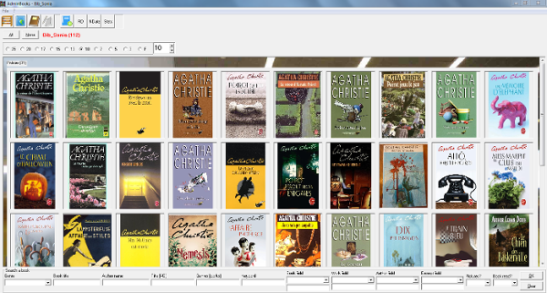 A screenshot of my digital library, AdminBooks [UNDER PROGRESS].