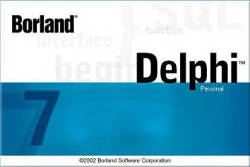 Splash of the Borland Delphi 7 Personal Edition.