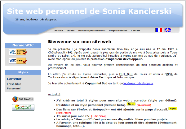 A screenshot of the V2 version of the website.