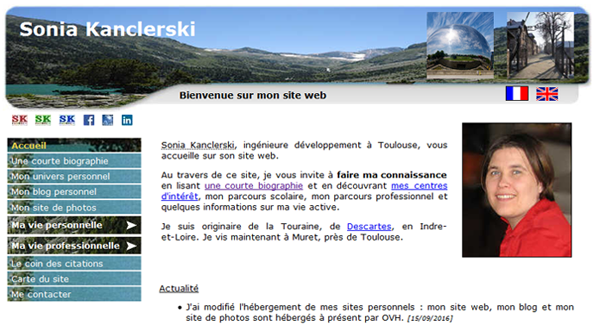 A screenshot of the V3 version of the website.